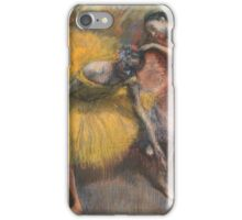 Edgar Degas - Deux danseuses jaunes et roses (1898) Impressionism  ballerina dancer iPhone Case/Skin