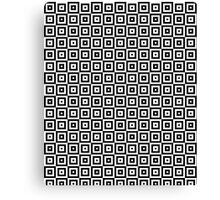 Black & White Geometric Square Pattern  Canvas Print