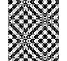 Black & White Geometric Square Pattern  Photographic Print