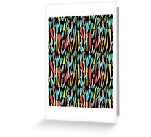 Seamless pattern colorful carrots Greeting Card