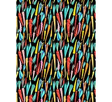 Seamless pattern colorful carrots Photographic Print