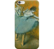 Edgar Degas - Dancers at the Barre ( 1900) Impressionism  ballerina dancers iPhone Case/Skin