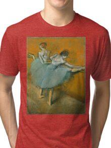 Edgar Degas - Dancers at the Barre ( 1900) Impressionism  ballerina dancers Tri-blend T-Shirt