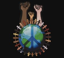 Unity And Peace - Raised Fists! Baby Tee