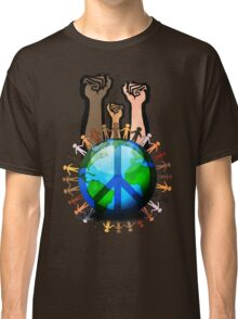 Unity And Peace - Raised Fists! Classic T-Shirt