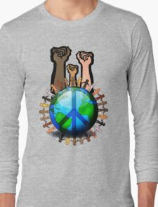 Unity And Peace - Raised Fists! Long Sleeve T-Shirt