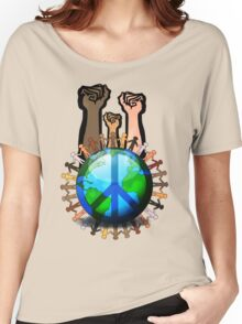 Unity And Peace - Raised Fists! Women's Relaxed Fit T-Shirt