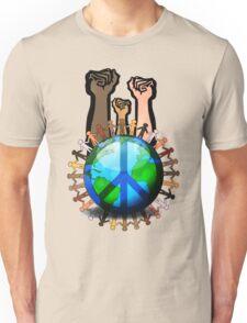 Unity And Peace - Raised Fists! Unisex T-Shirt