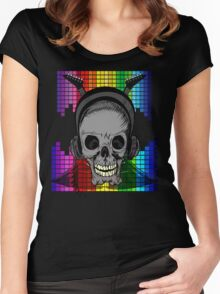 Skull, Guitars and Rock and Roll! Women's Fitted Scoop T-Shirt