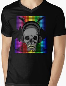 Skull, Guitars and Rock and Roll! Mens V-Neck T-Shirt