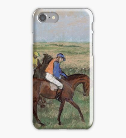 Edgar Degas - At the races, Impressionism iPhone Case/Skin