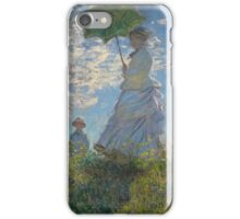Claude Monet - Woman with a Parasol - Madame Monet and Her Son (1875) Impressionism iPhone Case/Skin