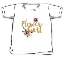 Kids Flower Girl Bridesmaid Shirts Wedding Reception T-Shirts Kids Tee