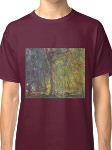 Claude Monet - Weeping Willow , Impressionism) Classic T-Shirt