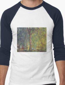 Claude Monet - Weeping Willow , Impressionism) Men's Baseball ¾ T-Shirt