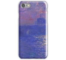 Claude Monet - Waterloo Bridge.  Sunlight Effect , Impressionism iPhone Case/Skin