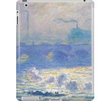 Claude Monet - Waterloo Bridge, Impressionism iPad Case/Skin