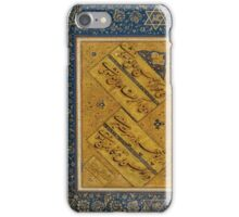 A CALLIGRAPHIC ALBUM PAGE BY MIR EMAD AL-HASSANI, SAFAVID PERSIA, LATE 16TH EARLY 17TH CENTURY iPhone Case/Skin
