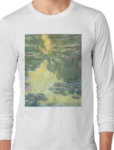 Claude Monet - Waterlilies (1907)  Impressionism Long Sleeve T-Shirt