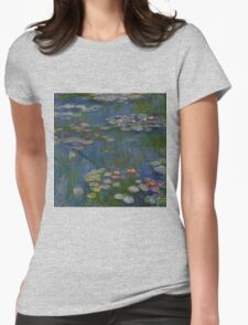Claude Monet - Water Lilies (1916)  Impressionism Womens Fitted T-Shirt