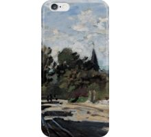 Claude Monet - Village Street (ca. 1869 - 1871)  Impressionism iPhone Case/Skin