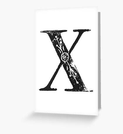 Serif Stamp Type - Letter X Greeting Card