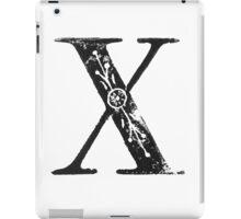 Serif Stamp Type - Letter X iPad Case/Skin