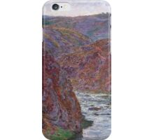 Claude Monet - Valley of the Creuse ,Gray Day , Impressionism iPhone Case/Skin