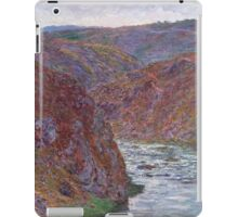 Claude Monet - Valley of the Creuse ,Gray Day , Impressionism iPad Case/Skin