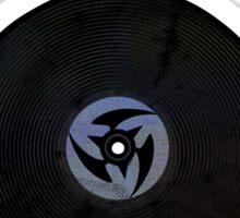 Vinyl Records with Wings - Retro Grunge Vintage Art - Music DJ! Sticker