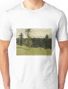 Claude Monet - Train in the Countryside , Impressionism Unisex T-Shirt