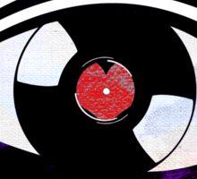 Eye Heart Vinyl (I Love Vinyls) Modern Conceptual Art Vinyl Records Music Sticker