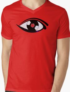 Eye Heart Vinyl (I Love Vinyl) Modern Conceptual Art Vinyl Records Music Mens V-Neck T-Shirt