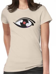 Eye Heart Vinyl (I Love Vinyl) Modern Conceptual Art Vinyl Records Music Womens Fitted T-Shirt