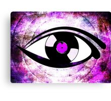 Eye Heart Vinyl (I Love Vinyl) Modern Conceptual Art Vinyl Records Music Canvas Print