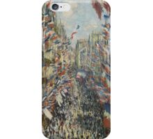 Claude Monet - The Rue Montorgueil in Paris. Impressionism iPhone Case/Skin