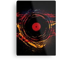 Vinyl Record Retro Grunge with Paint and Scratches - Music DJ! Metal Print
