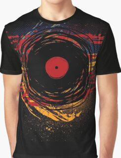 Vinyl Record Retro Grunge with Paint and Scratches - Music DJ! Graphic T-Shirt