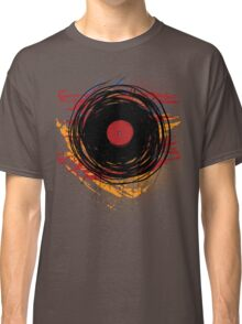 Vinyl Record Retro Grunge with Paint and Scratches - Music DJ! Classic T-Shirt