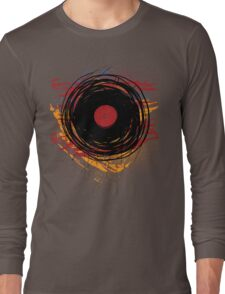 Vinyl Record Retro Grunge with Paint and Scratches - Music DJ! Long Sleeve T-Shirt