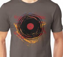 Vinyl Record Retro Grunge with Paint and Scratches - Music DJ! Unisex T-Shirt