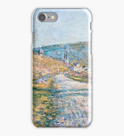 Claude Monet - The Road to Vétheuil  Impressionism iPhone Case/Skin