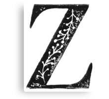 Serif Stamp Type - Letter Z Canvas Print