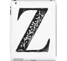 Serif Stamp Type - Letter Z iPad Case/Skin