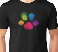 Wet Paintprint (Rainbow Paw) Unisex T-Shirt