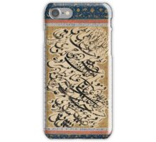 A CALLIGRAPHIC EXERCISE LARGE ALBUM PAGE (SIYAH MASHQ) BY MIR EMAD AL-HASSANI, SAFAVID PERSIA, iPhone Case/Skin