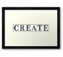 Serif Stamp Type - Create Framed Print