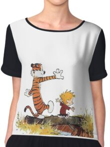 Calvin And Hobbes Chiffon Top