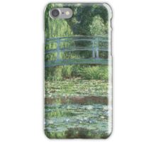 Claude Monet - The Japanese bridge, Impressionism iPhone Case/Skin