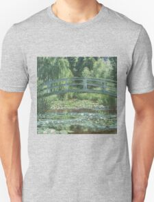 Claude Monet - The Japanese bridge, Impressionism Unisex T-Shirt